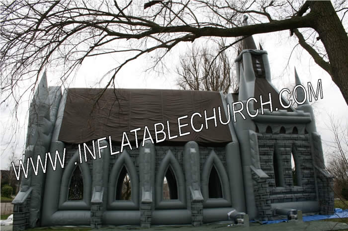 Inflatable Church Side View