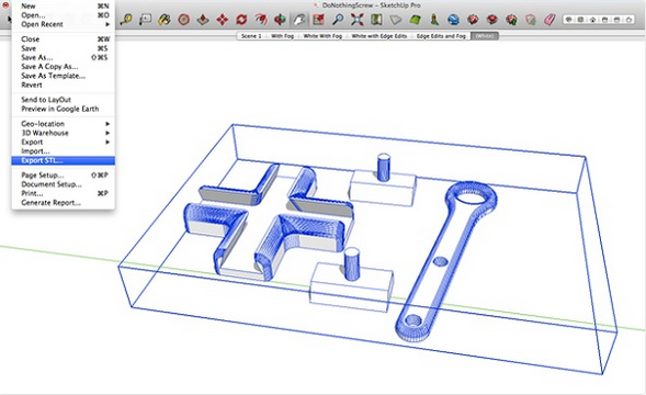 install the sketchup stl extension