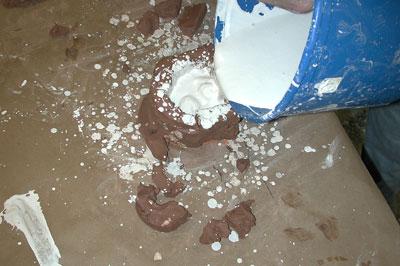 Pour plaster again