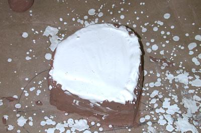 Let plaster dry