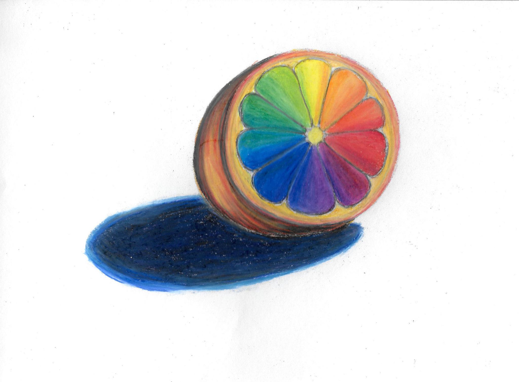 Megan Hepburn Oil Pastel Color Wheel