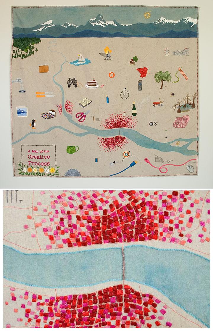 Paint Machine Embroidery Art