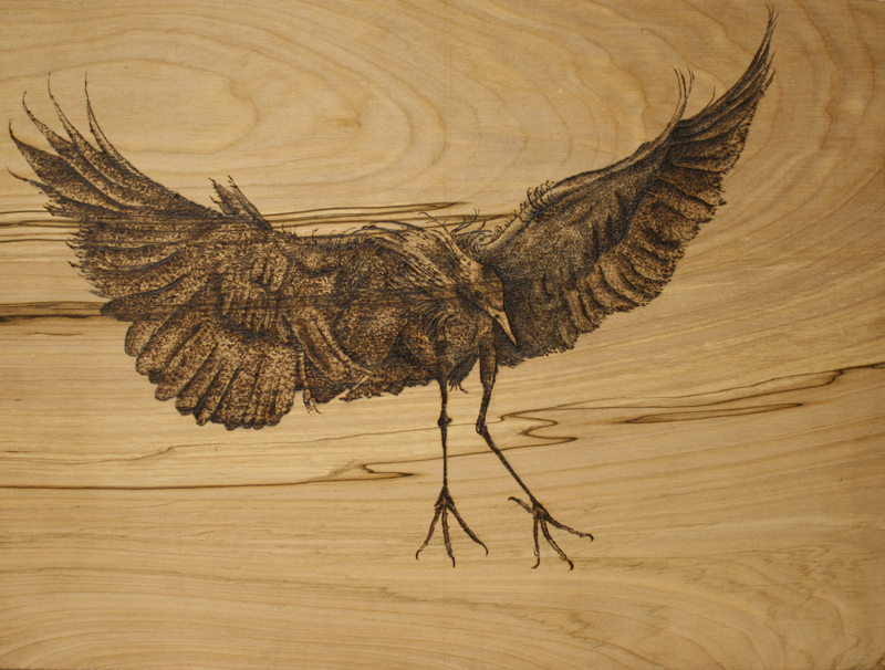 Woodburning Pyrography Drawing Alternative Materials