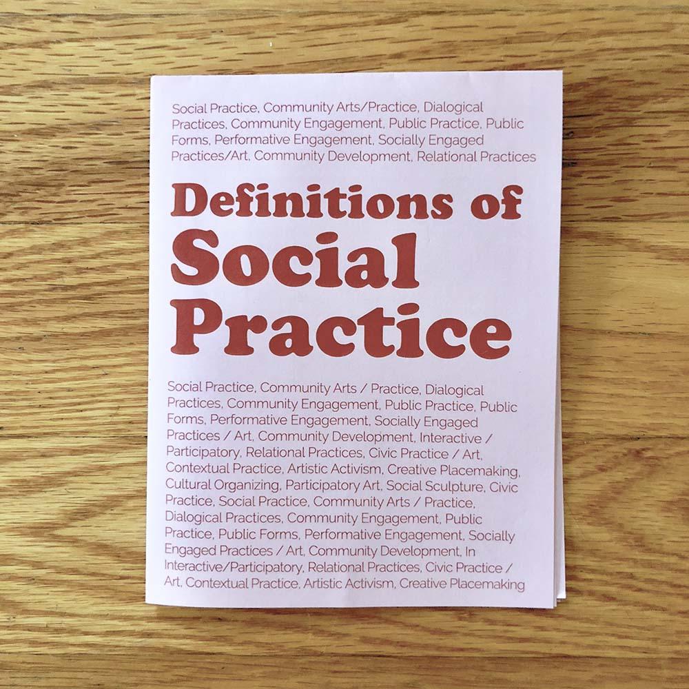 Social Practice Zines: Definitions
